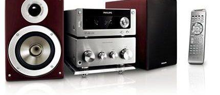 Zaļais Philips Micro System MCM772 mūzikas centrs